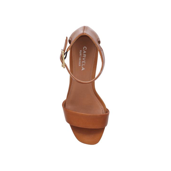 aae57b46035d Shadow Tan Mid Heel Sandals By Carvela