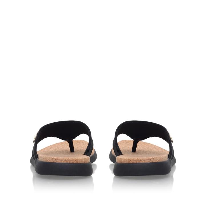e055d1d6bbb Cami Black Flat Flip Flop Sandals By DKNY