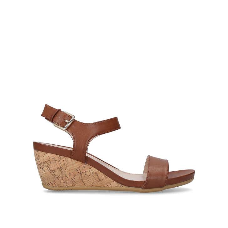 Best Place Cheap Online Footaction Cheap Online Carvela Sparkle - tan mid heel wedge sandals fb36qTHYUk