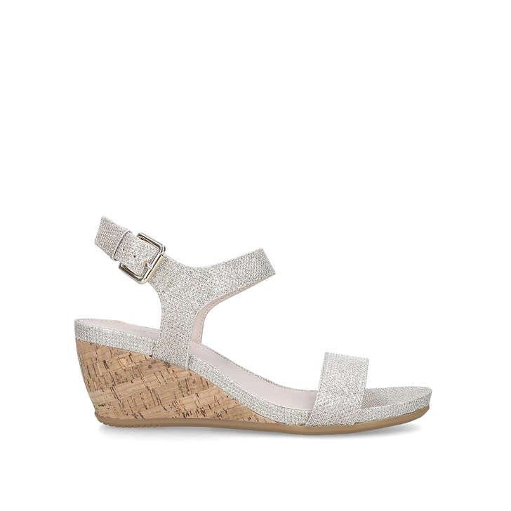 0c6202ddaeb Sparkle Metallic Wedge Heel Sandals By Carvela | Kurt Geiger