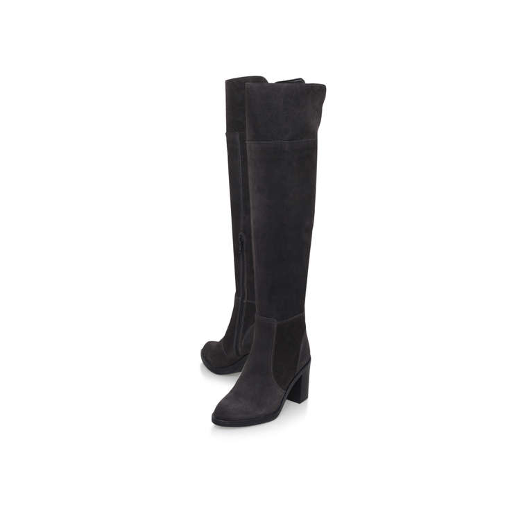 Kurt Geiger Tring - grey mid heel knee high boots Cheap Sale 2018 Newest Online Cheap Sale Low Cost Discount Amazon PYBBb