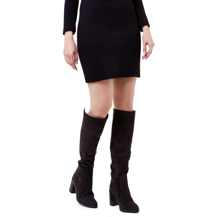 Kurt Geiger Tring - grey mid heel knee high boots Shop Outlet Largest Supplier Footaction Online Cost HTEuYBC