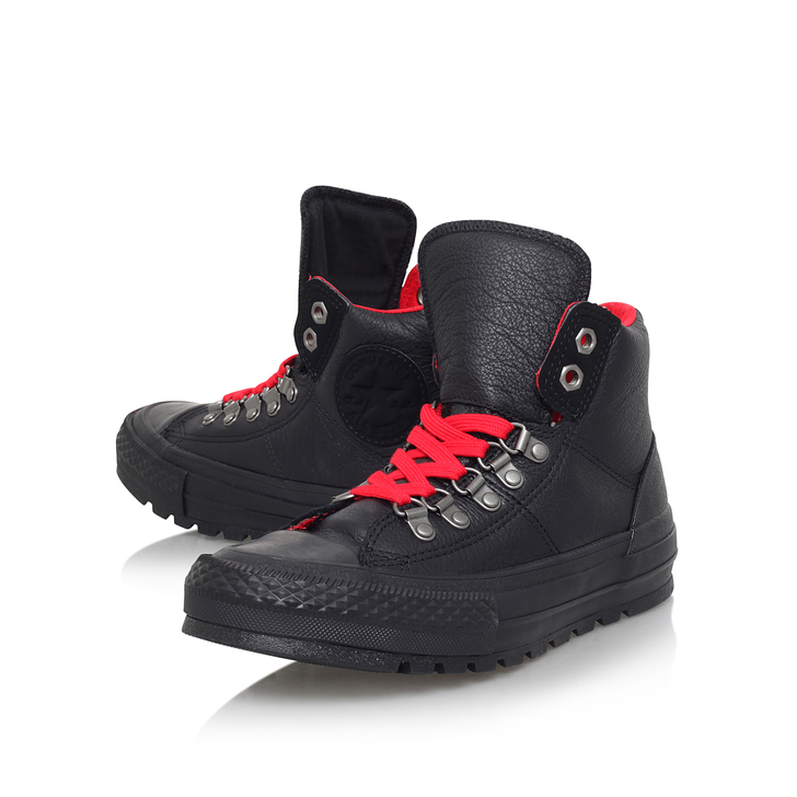 d3e48148b5df Ct Street Hiker Hi Black Flat High Top Trainers By Converse
