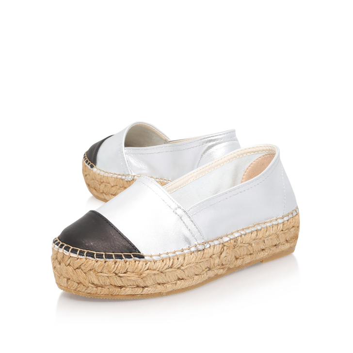 Mellow Silver Espadrille Shoes By KG Kurt Geiger mwuKLqAY
