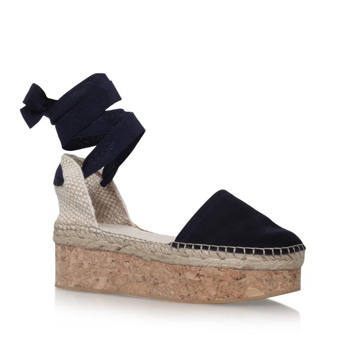 5ee219051bf3 Kupkake Navy Flatform Sandals By Carvela