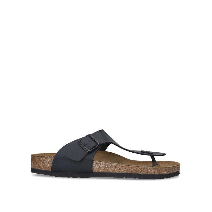 7c23d8baf119 Ramses Black Flat Sandals By Birkenstock