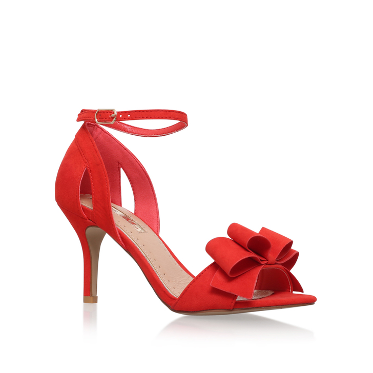 d70e0c8cc7d7f Caiden Red Mid Heel Sandals By Miss KG