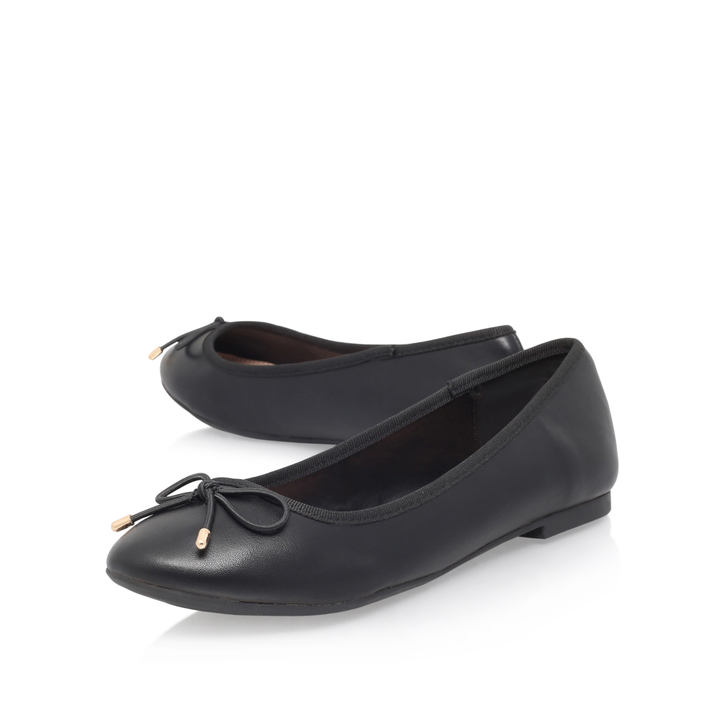 95f40c110225 Neo Black Flat Ballerina Shoes By Miss KG