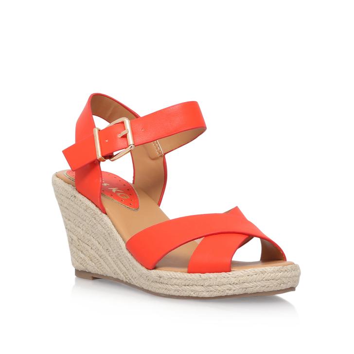Miss KG Orange high heel wedge sandals 589580431991979