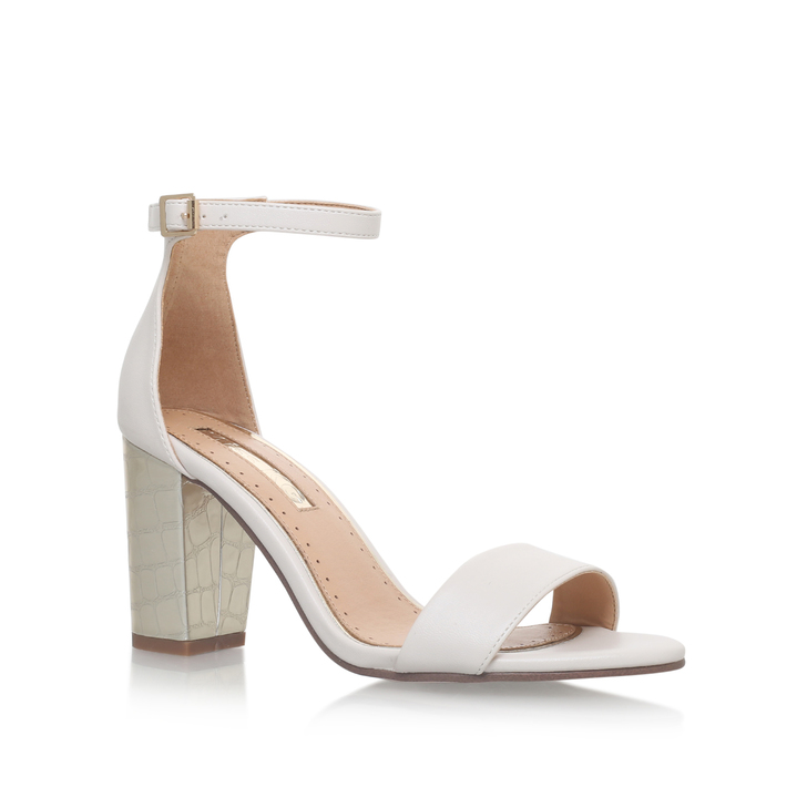 c0046efcfb68 Pearl White Mid Heel Sandals By Miss KG
