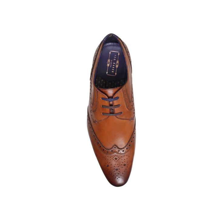 091fbb83026b8c Hann 2 Wing Cap Derby Tan Lace Up Shoes By Ted Baker