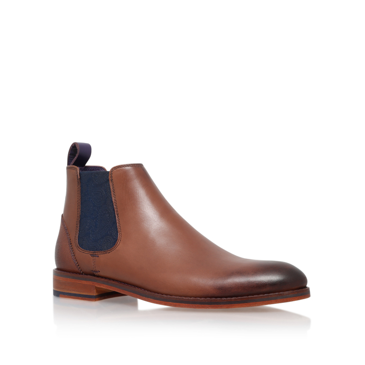ad79c1ae1c5375 Camroon 4 Paisley Chelsea Brown Chelsea Boots By Ted Baker