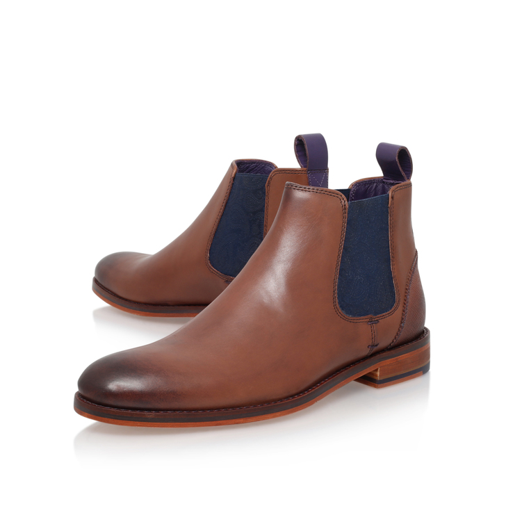 db6eb2d9a500 Camroon 4 Paisley Chelsea Brown Chelsea Boots By Ted Baker