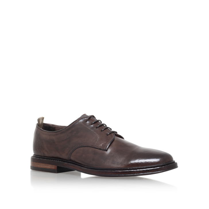 f1e2507286c5 Harvard Washed Derby Brown Brogue Shoes By Officine Creative | Kurt Geiger