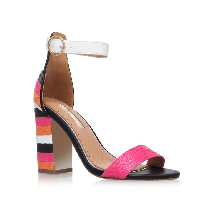 3f01ab52c57 Ebony Multi-coloured High Heel Sandals By Miss KG