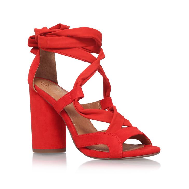 336085cfc244 MIA Orange High Heel Sandals by KG KURT GEIGER