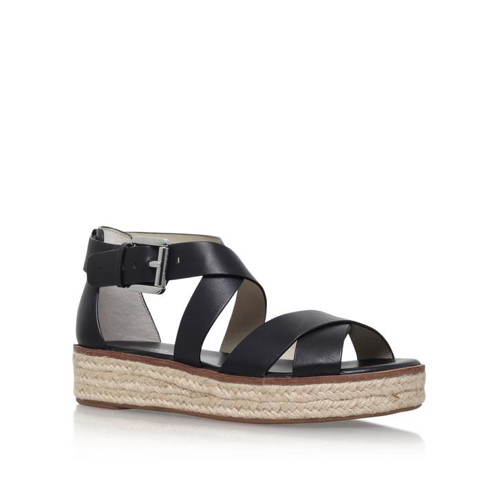 a1992c3f605c Darby Sandal Black Flat Sandals By Michael Michael Kors