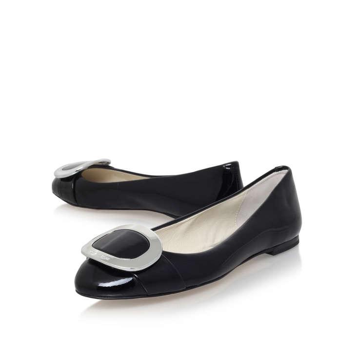 Pauline Ballet Black Flat Ballerina Shoes Michael