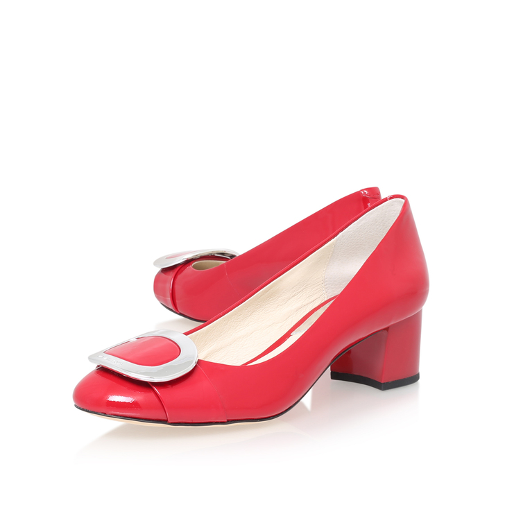 Red Court Shoes Mid Heel