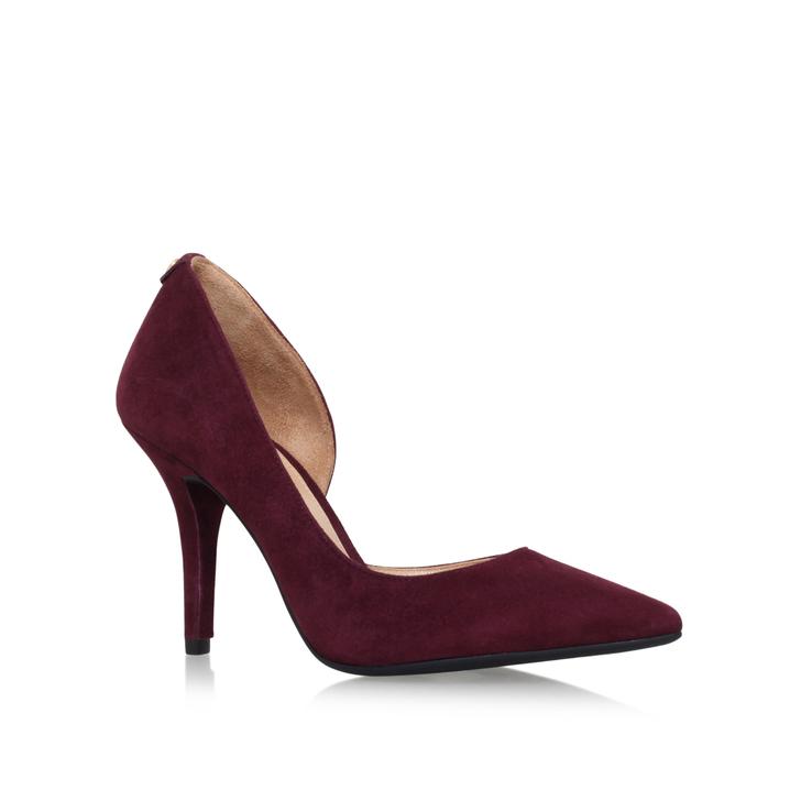 fb84a0f19faa Nathalie Flex High Pump Wine Mid Heel Court Shoes By Michael Michael Kors