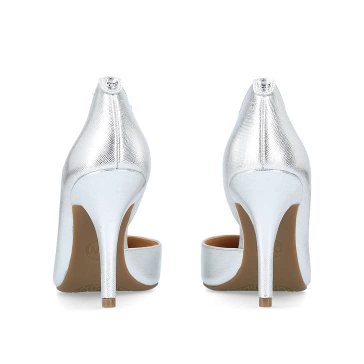 6b210bb4afd7 Nathalie Flex High Pump Silver Mid Heel Court Shoes By Michael Michael Kors