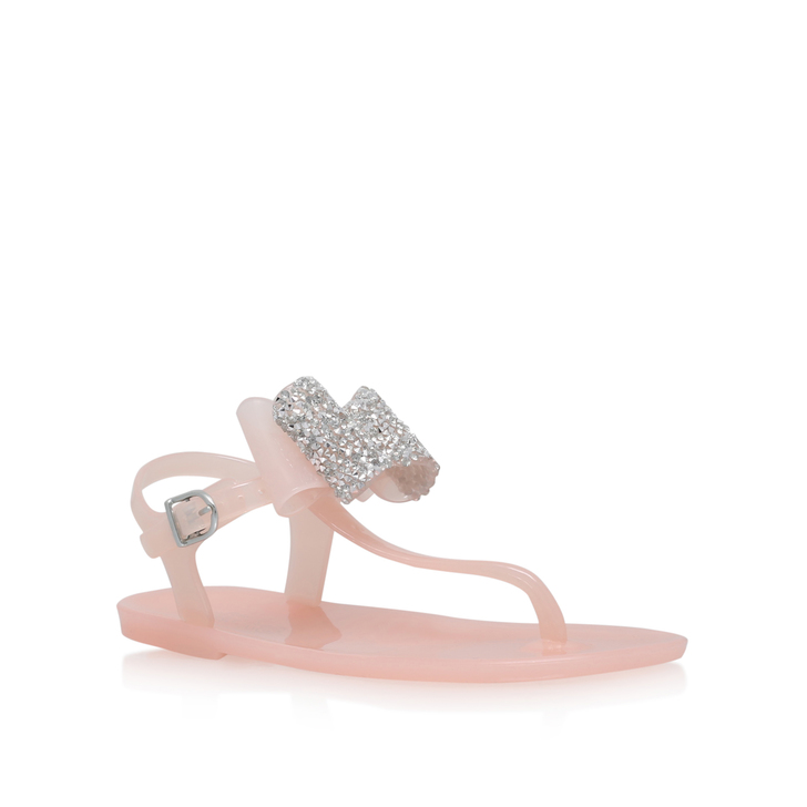 dd24b3cf6a06 Mini Daisy Girls Nude Jelly Sandals 4-7 Years By Mini Miss KG