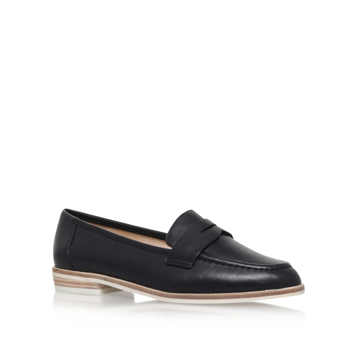 a92b02a9b Antonecia Black Flat Loafer Shoes By Nine West