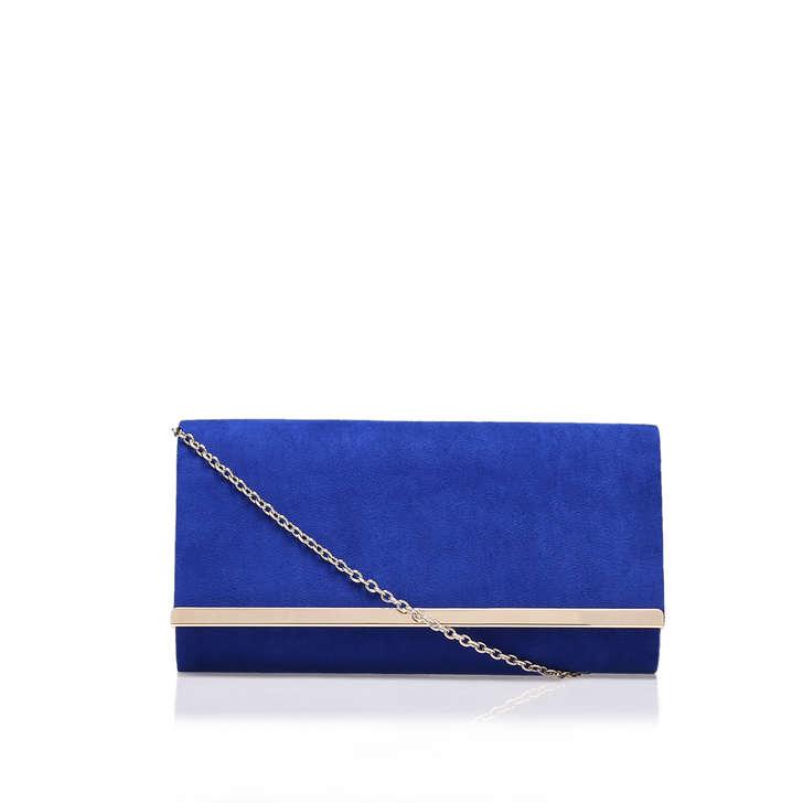 Dylan Blue Clutch Bag By Carvela Kurt Geiger | Kurt Geiger