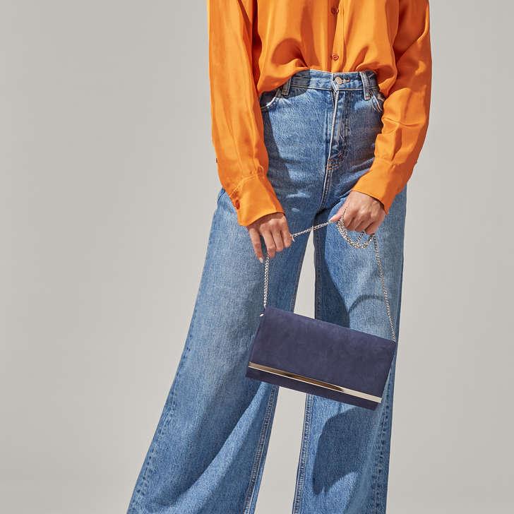 Dylan Navy Clutch Bag By Carvela Kurt Geiger