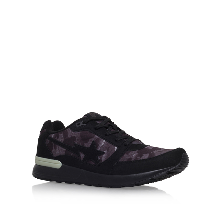 Noise Camo Track Sta M Black Low Top Trainers By A Bathing Ape ... c41fd1988