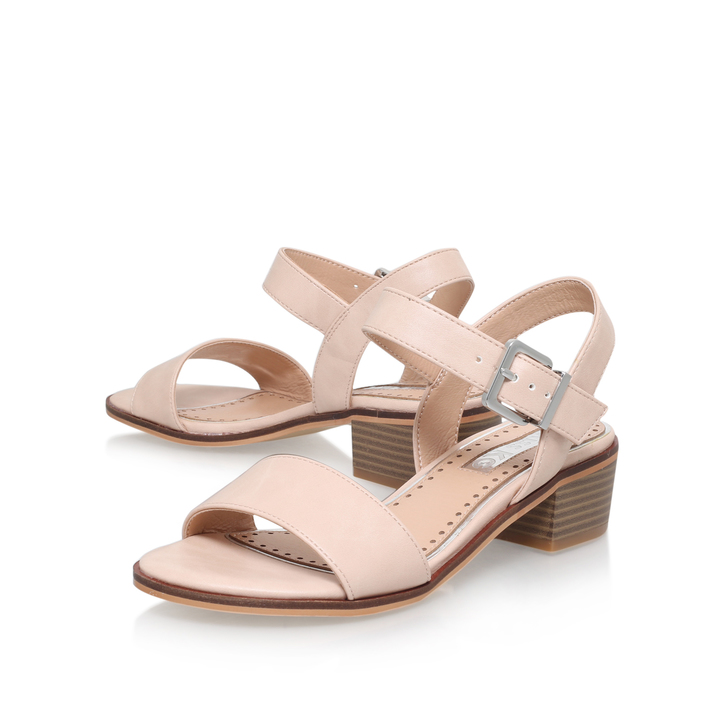 Pablo Nude Low Heel Sandals By Miss KG | Kurt Geiger
