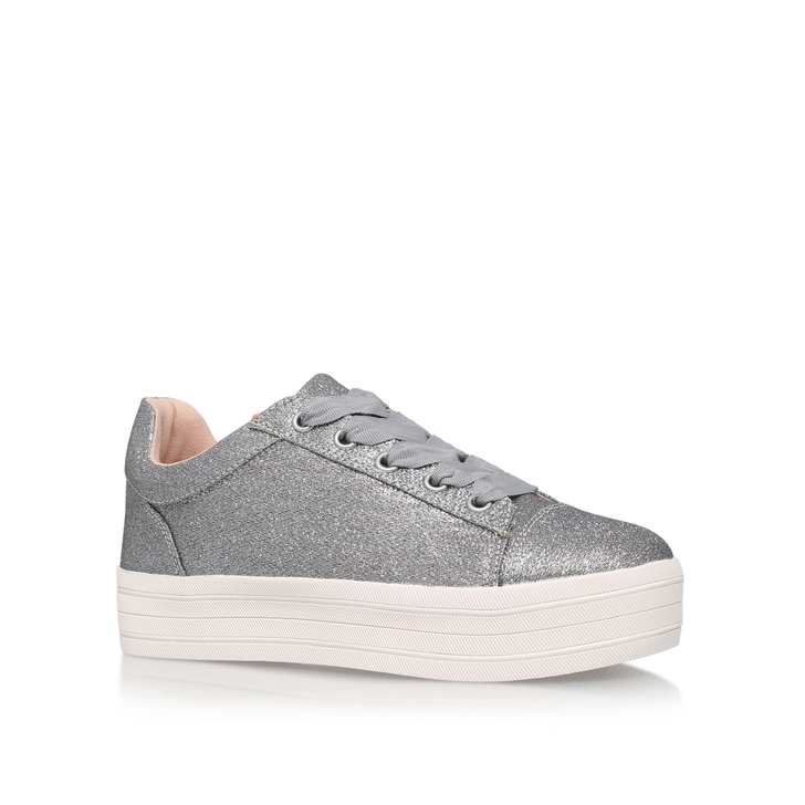 Lupo Silver Flatform Trainers By