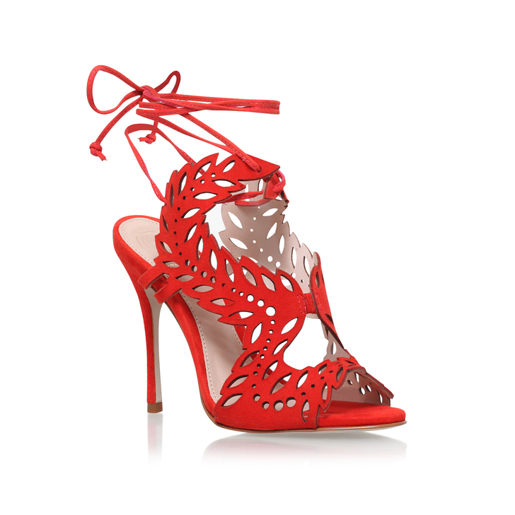 Horatio Red High Heel Sandals By KG Kurt Geiger | Kurt Geiger