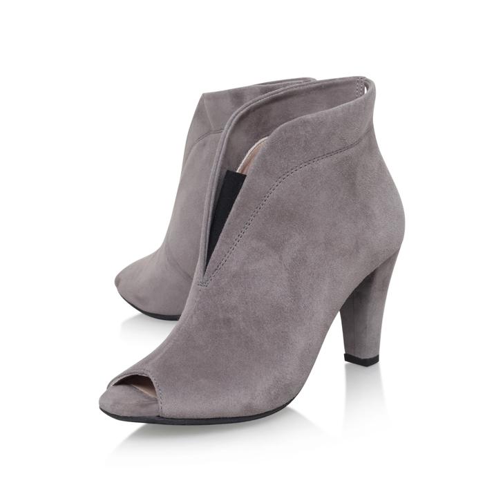 Rachel Grey Mid Heel Ankle Boots By
