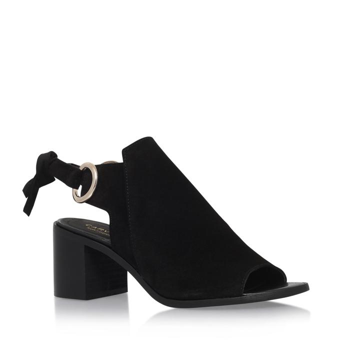 d4460b0c422 Ardent Black Mid Heel Sandals By Carvela