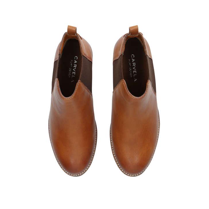 e352e1700 Storm Tan Flat Ankle Boots By Carvela