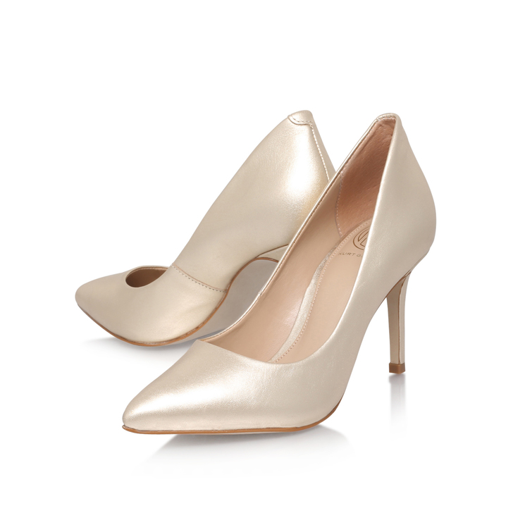428487ee1dcf Bella Champagne Mid Heel Court Shoes By KG Kurt Geiger
