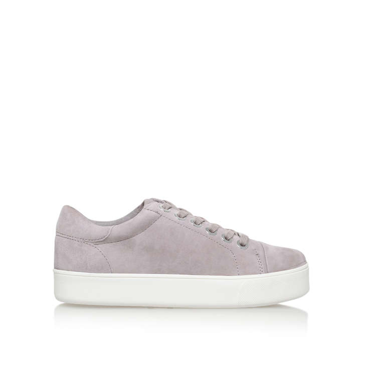 Loot. Grey Flat Lace Up Trainers