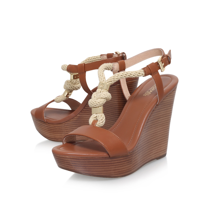 - Holly Wedge Tan Wedge Sandals By Michael Michael Kors Kurt Geiger