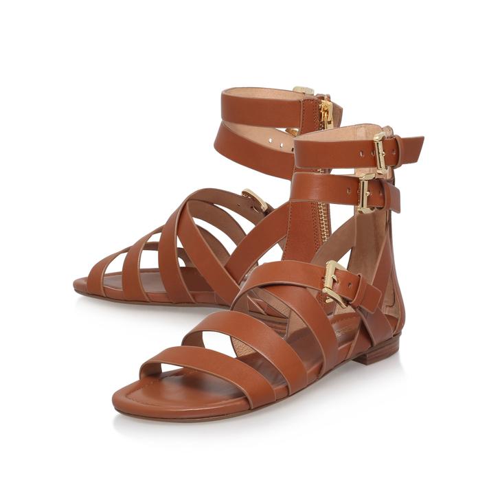 c3d391d6384 Jocelyn Flat Sandal Tan Flat Sandals By Michael Michael Kors