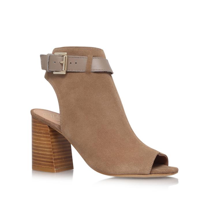 Taupe KG KURT GEIGER Ripple suede heeled sandals