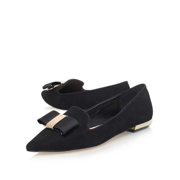 1ce98a592 Major Black Flat Ballerina Shoes By Carvela   Kurt Geiger