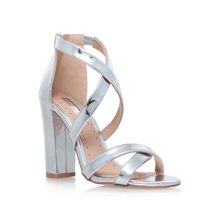f4ecfba50fb Sian Silver High Heel Sandals By Miss KG