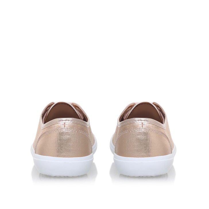 394d7df116c Kali Gold Flat Lace Up Trainers By Miss KG