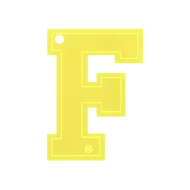Letter F Charm Yellow Letter Bag Charm By Kurt Geiger ...