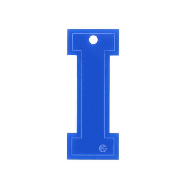 Letter I Charm Blue Letter Bag Charm By Kurt Geiger London