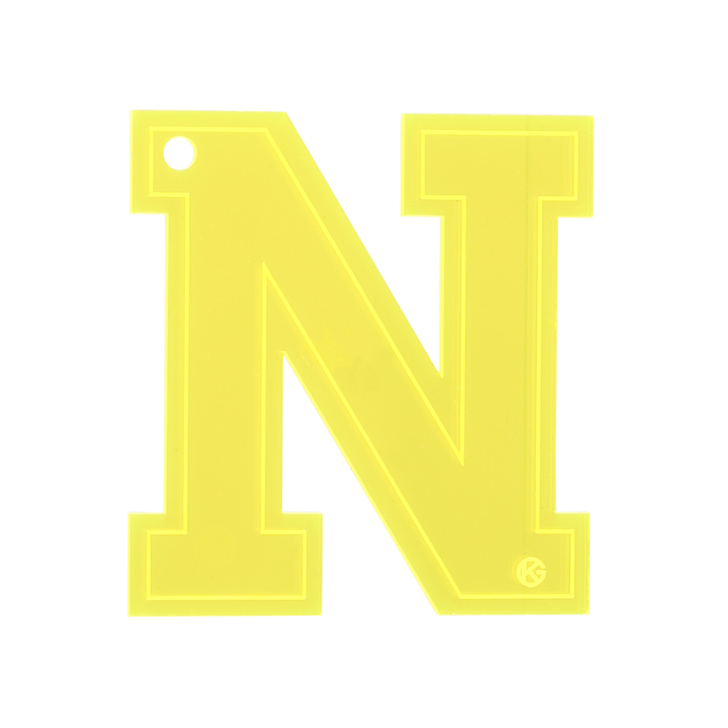 Letter N Charm Yellow Letter Bag Charm By Kurt Geiger