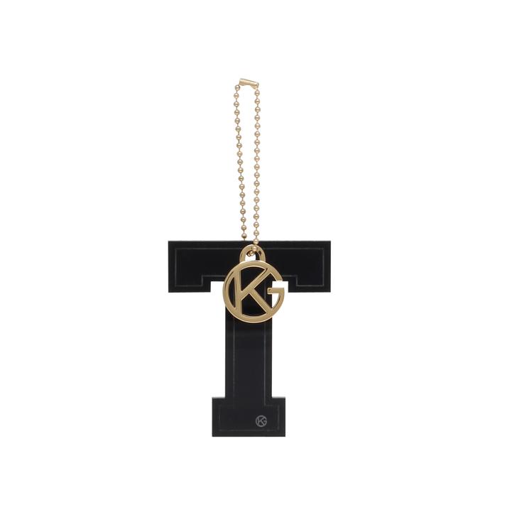 Letter t charm black letter bag charm by kurt geiger for Letter t charm