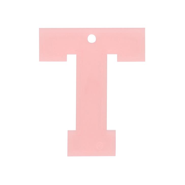Letter t charm pink letter bag charm by kurt geiger london for Letter t charm