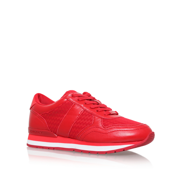 Jamie Sport Red Flat Low Top Trainers